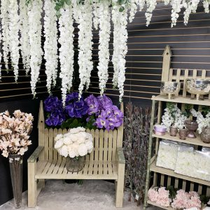 Jacksonville Silk Flower Display with Bench