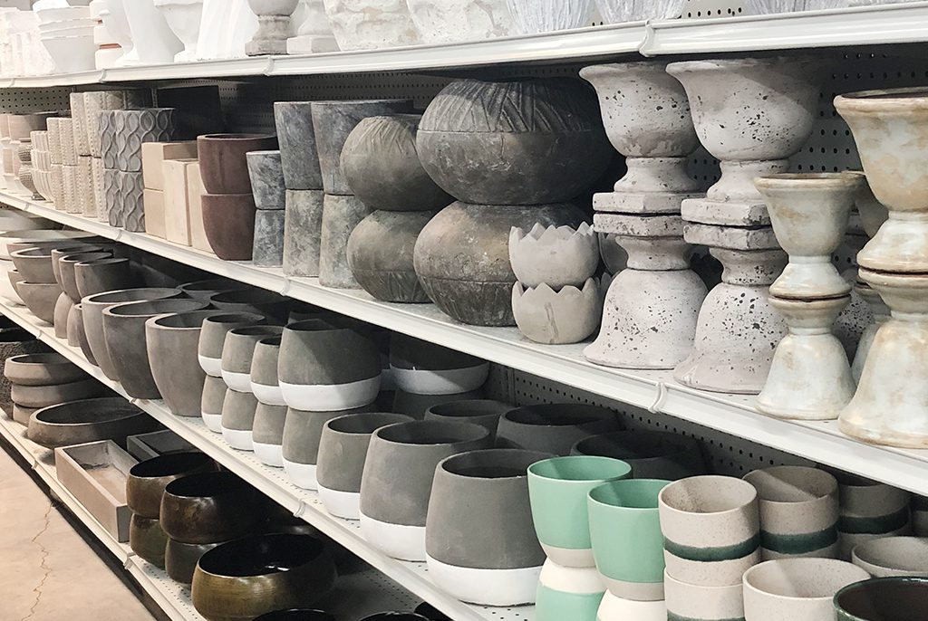 Pottery Containers in Jacksonville