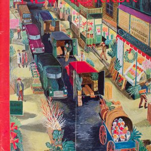 1956 New Yorker cover painting featuring the New York Pennock location.